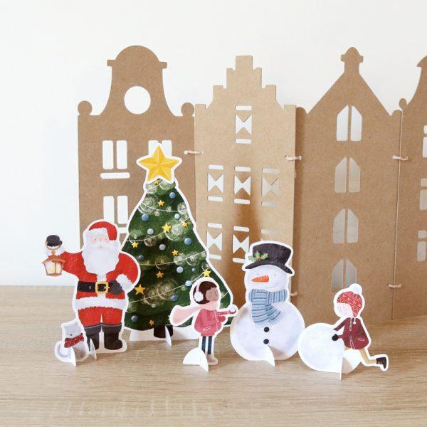 Calendrier de l'avent Village de Noël