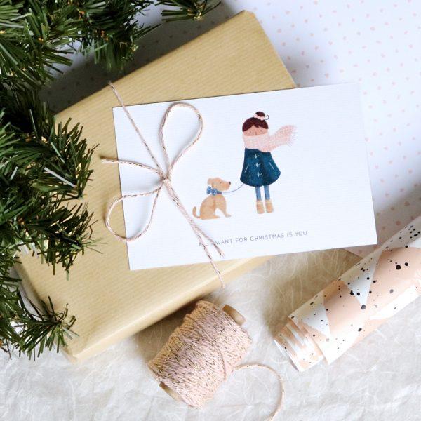 Lot de 8 cartes de vœux Village de Noël