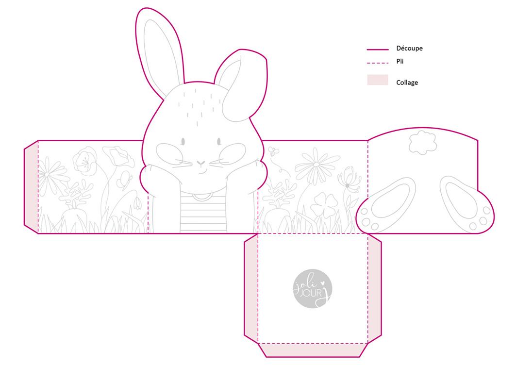 Joli Jour J - DIY de Pâques - La box lapin explications