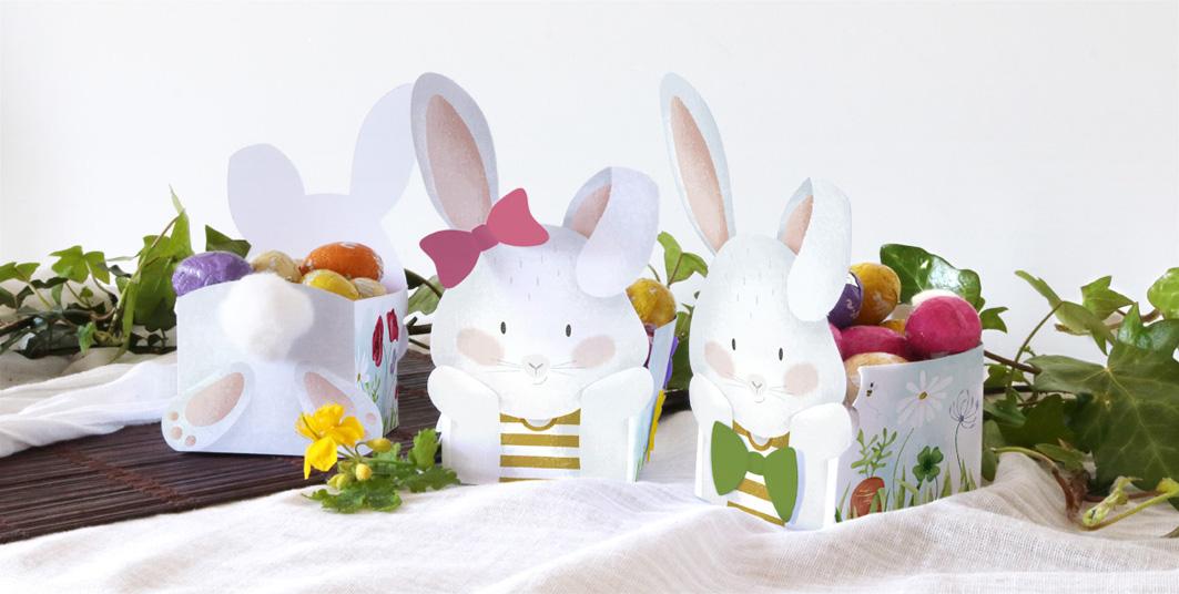 Joli Jour J - DIY de Pâques - La box lapin face et dos